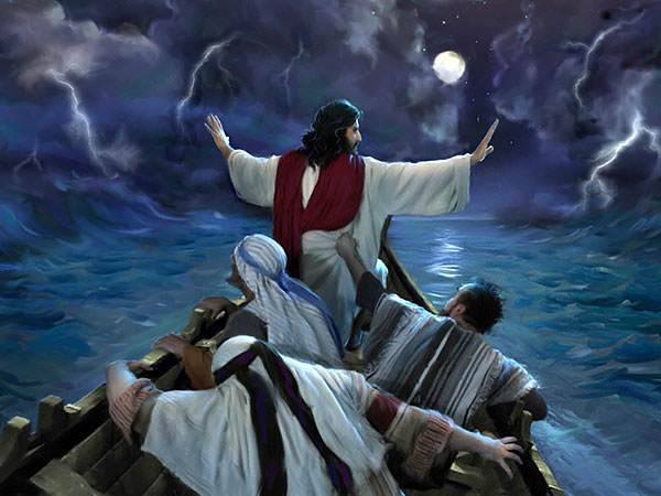 """Jesus spoke to the wind and the sea saying, """"Peace, be still."""""""
