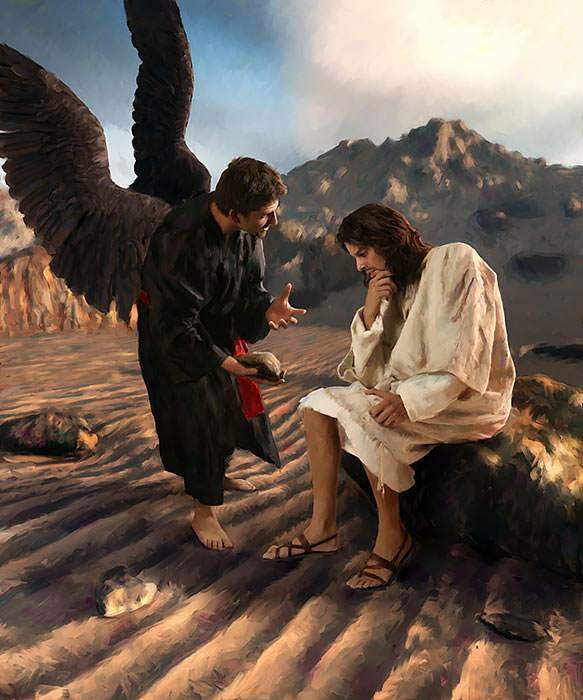 the Lord Jesus faced our great enemy, Satan, and defeated him.
