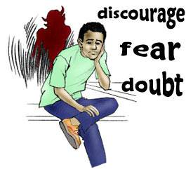 Satan oppresses Christians. He puts thoughts of doubt, fear, and discouragement into their minds