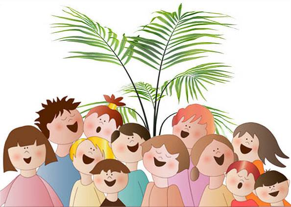 Image result for children waving palm branches images
