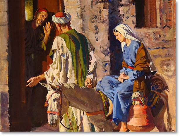 Image result for mary and joseph turned away at the inn