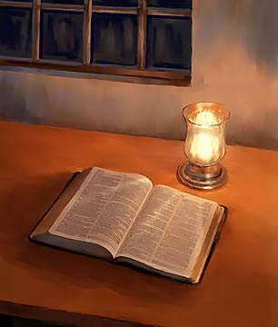 lamp and bible - photo #16