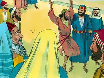 Quant aux apôtres, quittant le Sanhédrin, ils repartaient tout joyeux d'avoir été jugés dignes de subir des humiliations pour le nom de Jésus